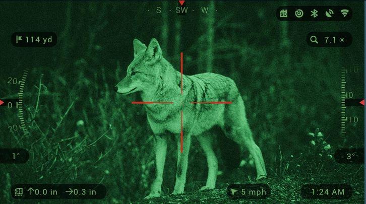atn night vision scope view