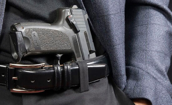 gun in waistband - concealed carry classes