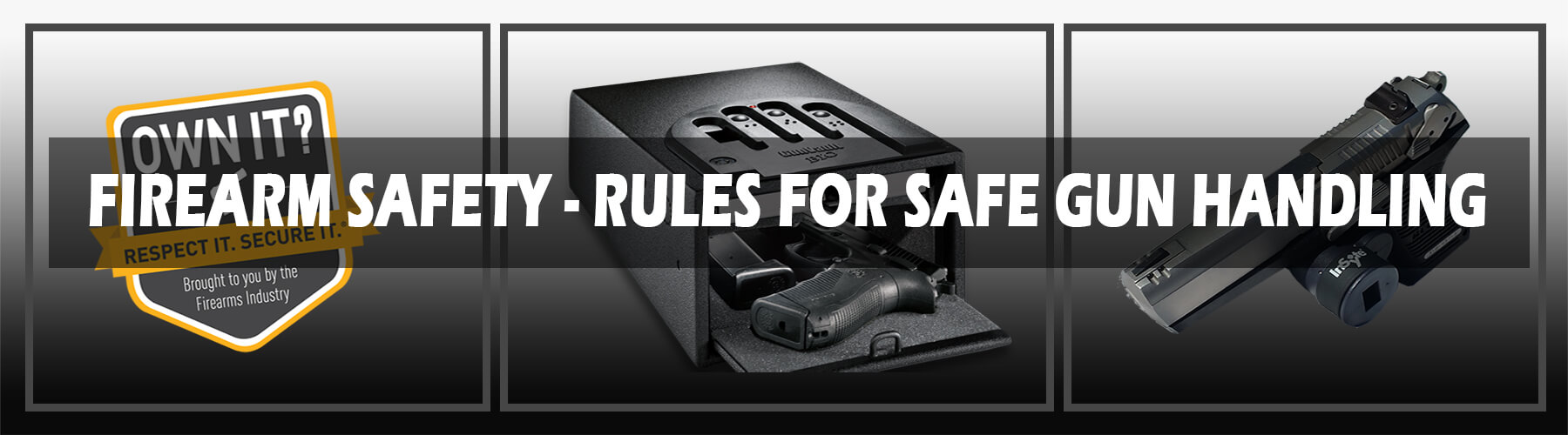 firearm safety tips banner
